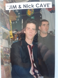 in the shop with Nick Cave