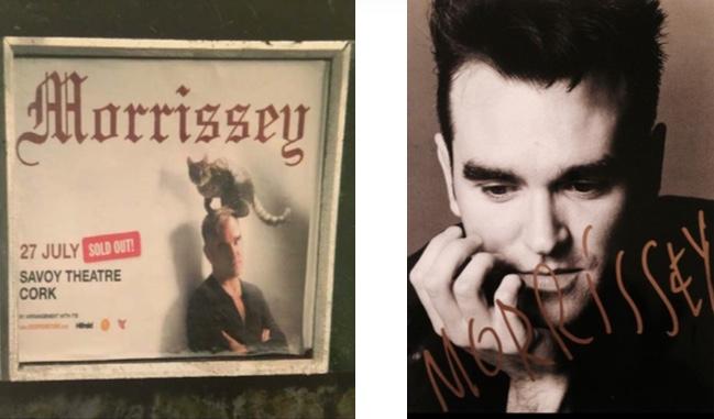 Morrissey signed pic frame
